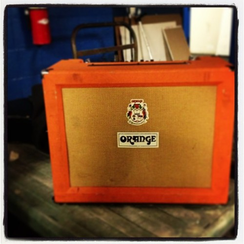 @orangeamplifiers very pleased with my #ad30tc and very excited to #rock out tonight! #tour #brooklyn #nyc #livemusic