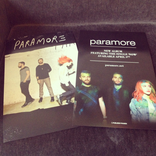 fbrstreetteam:  New Paramore posters are in!  Make sure you have a FBR Street Team account and look for a new poster mission coming soon.