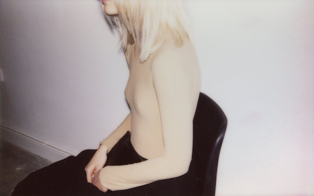 sanna-helena-berger:  polaroid of emma arvida bystrom during shoot for u+mag by sanna helena berger
