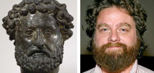 waltersartmuseum:  Our eagle-eyed conservators spotted an ancient Roman bust in the collection that looks very much like Zach Galifianakis.