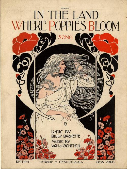 fuckyeahvintageillustration:  'In the land where poppies bloom', artists unknown, ca. 1918.