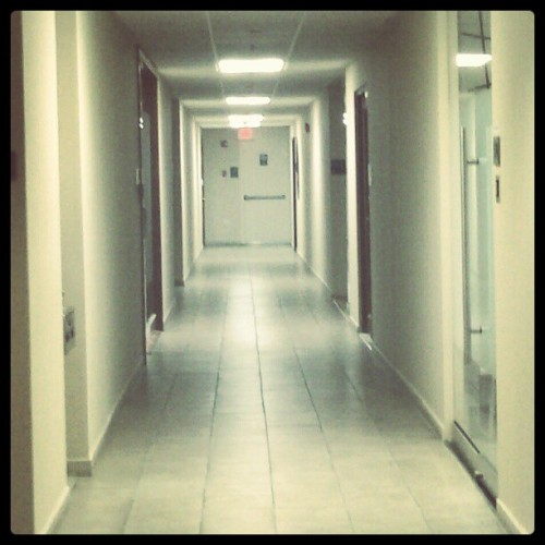 Me in the hall- #hallway #dentalassistant #office #workplace #clichehallwaypicture