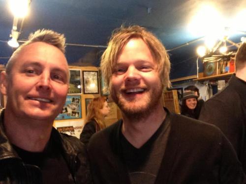 Mike McCready and Troy Nelson celebrating Record Store Day at Easy Street Records!