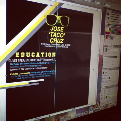 Recreating my résumé as a graphic design! Me gusta holla! #jtcgraphics #graphicdesign