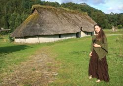 At the bronze age farm, Norway