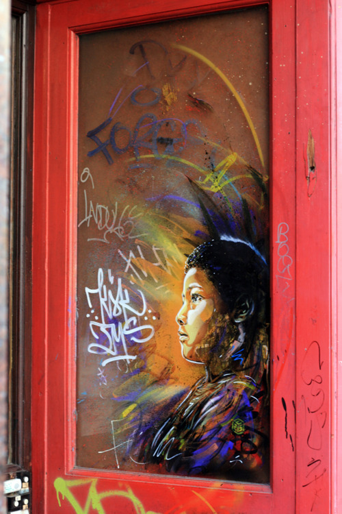 artinstreet:  Street art 524  opens the door of your mind !!!