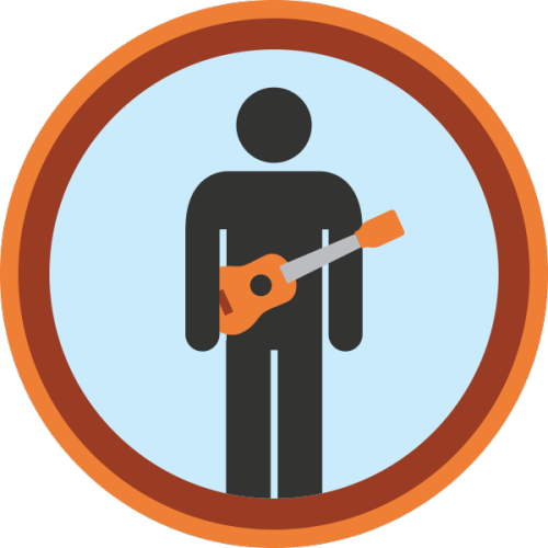 lifescouts:  Lifescouts: Ukulele Badge If you have this badge, reblog it and share your story! Look through the notes to read other people's stories. Click here to buy this badge physically (ships worldwide). Lifescouts is a badge-collecting community of people who share their real-world experiences.