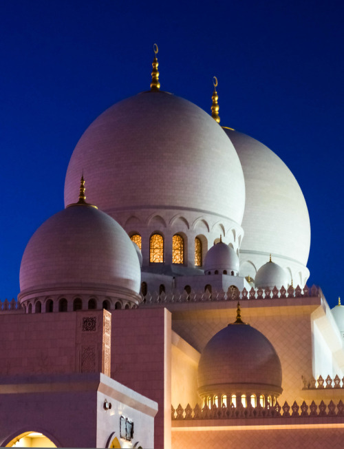 uncommonjones:  The Domes by julian john The Sheikh Zayed Grand Mosque, Abu Dhabi, United Arab Emirates