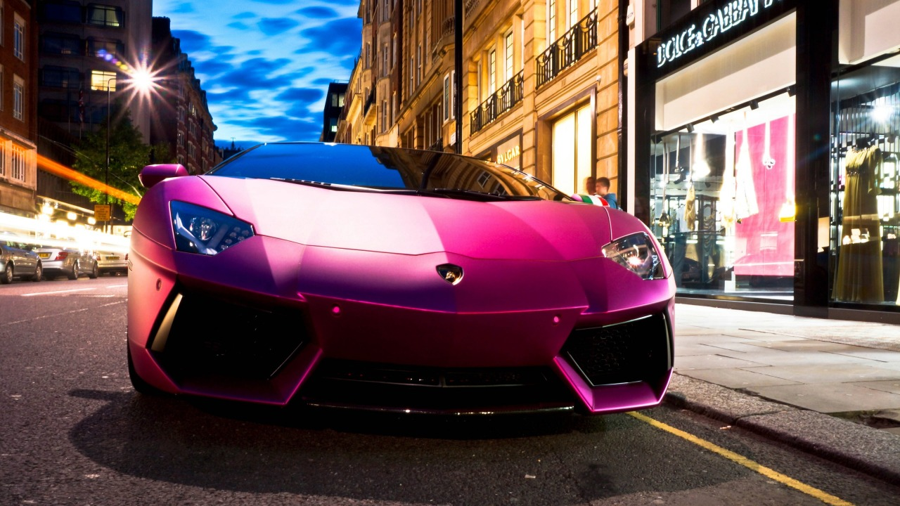 Lamborghini car Aventador LP760 in pink on hd wallpapers backgrounds