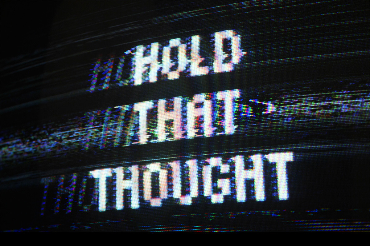 Hold that thought by @AlexBeltechi — Glitched by Jamie Boulton