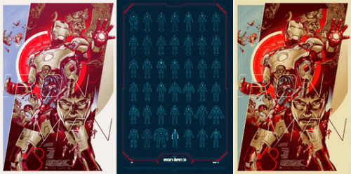 Mondo reveals three new posters for 'Iron Man 3'