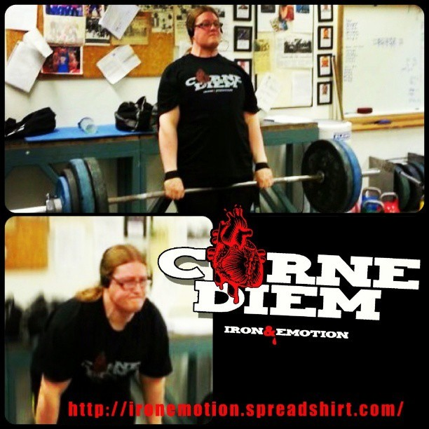 Powerlifter Jens @necros1s Lindkvist of Sweden repping IRON&emotion's Carne Diem available here now: http://ironemotion.spreadshirt.com/ #carpediem #powerlifting #bodybuilding #powerlifter #meat #foodporn #foodie #crossfit #training #igfitfam #traindirty #musclehustle #instafitfam #gymflow #muscle #strong #fitfreak #sexy #meathead #zyzz #love #fitfluental #motivation #inspiration #fitspro #determination #photooftheday #instagood #ig_fitness_freaks