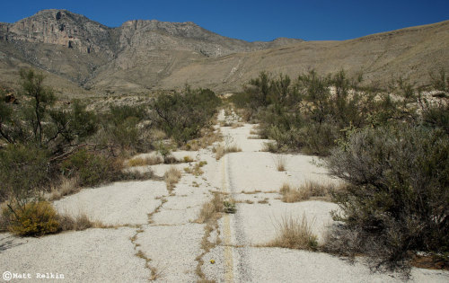 Abandoned Road off Hwy 1, South of Guadalupe Mountains National Park, Texas