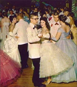 1950sunlimited:  Teens, 1959 Prom at Collinsville High School, 1959
