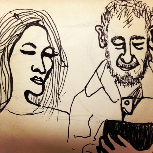 nosy neighbor #missmanners #subwaydrawings #illustration #penandink #brooklyn #nyc #doodles