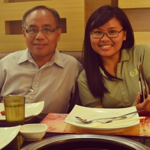 Dinner with papa and jayson. #lateupload