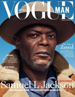 sinnamonscouture:  Samuel L. Jackson Covers Vogue Man Arabia, Spring/Summer 2018