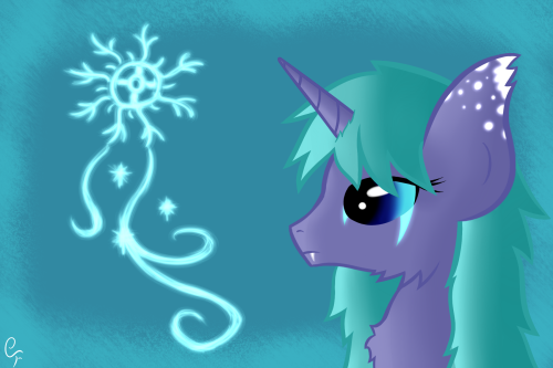 "ask-spectral:  Sixth Place - ""Glaciar"" Prize for Vaeyla  (Vector and Fluffy at same time is hard XD)"