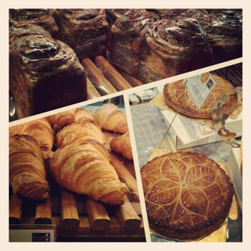 Choco bread, croissants, and almond tarts MMMMM!! #bread #bakery #Japan #food