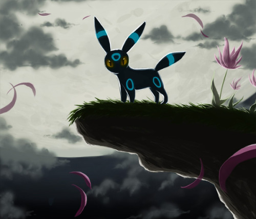 alternativepokemonart:  Artist Umbreon by request. Cheer up! <3