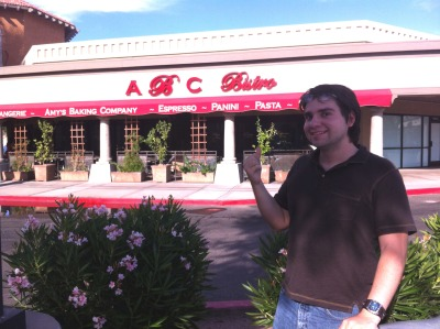 "So I went to to Amy's Baking Company… but I couldn't get inside. The re-opening was apparently only available via invitation or reservation. Either way they were completely booked. Things I did see: The place was LOADED with security guards all around. It was a bit frightening. A couple walked outside of it with some paper and a guard chased them to relinquish it and tear it down. (yikes?) Someone with a stereotypical Italian chef costume was promoting a pizzeria jeering ABC with a line similar to ""[ENCLOSED PIZZA PLACE] does not hit their employees!'    Lots and lots of people sensing an awkward aura around it. Some of the security guards noticed me but they just laughed at how much attention the place was getting. I didn't see Amy herself, but I did see her husband Samy a bunch of times from afar. All in all it was kind of scary. Right now I have no idea what kind of things are going on inside the restaurant. I am sorry if you were expecting a full review from me, but I just couldn't get access!"