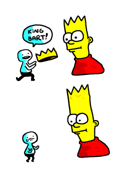 Illustration the simpsons simpsons comics bart bart simpson artists on tumblr comix misterhayden art