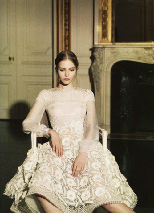 stopdropandvogue:  Sasha Luss wearing Valentino Haute Couture Spring/Summer 2013 for Vogue Italia photographed by Gian Paolo Barbieri