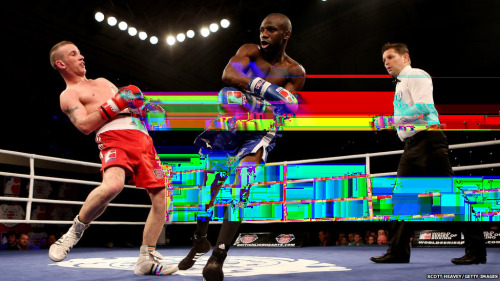 glitchnews:  John Joe Nevin of British Lionhearts (left) in action with Daouda Sow of USA Knockouts during their 57-61kg bout in the World Series boxing match at York Hall in London.