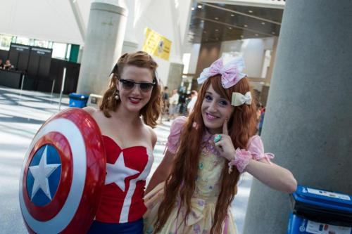 lovelylor:  Lady Captain America and Sweet Lolita will save the world
