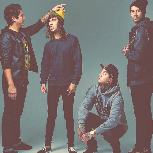 "imvicfuentes:  jaime's like ""ooh wats dis"" and vic's like ""no me toques puta"" and tony's like ""stfu guys jfc"" and mike's like ""did someone say camera?"""