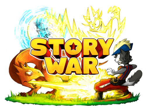 """Story War is now live on Kickstarter!  (Click here to go to the Story War Kickstarter page!) Man, you guys! We've been making this game since last summer and we're so excited that it's finally ready to print! All we need now is you, the player, to actually buy the game.   What is Story War?  It's a storytelling party game for 3 to 8 players. There's no numbers or stats or complex rules - each card is simply a name, illustration, and description of a Warrior, Battlefield or Item. It's up to the players to determine what each character does, and how their Warrior would beat their opponent'sWarriors. Players start each battle by selecting Warriors that they think would have a tactical advantage in a randomly drawn Battlefield, and then an organic story evolves from the conflict. It's not about """"who would win in a fight"""" so much as it's abouthowthey'd win in a fight. Players control their Warriors by describing what they'd do out loud in an open discussion. One player is always acting as an impartial judge that changes after every battle.If a player claims their character is too powerful (for example, claiming a Wizard could pull the moon out of the sky) their opponent can """"challenge"""" that claim and the judge can decide whether or not to allow it - think about how objections work in the courtroom. Challenges are rarely invoked, but the existence of the rule keeps everybody's narrative grounded.   Battles generally start with a scrimmage to control the Battlefield, then once someone has the high ground they'll go in for a direct attack, then usually Item cards are introduced and add more complexity to the battle. In large team games, Warriors are often matched up one by one and each team gradually whittleseach other down. The cards are only a starting point - where the battle ends up depends on the story lines the players try to weave. The best part of Story War is being backed into a corner and having to use ridiculous cartoon logic or a reference to Harry Potter or Pok"""
