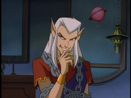 nightmareloki:  fangirlasplosian:  Unnecessarily Attractive Cartoon Characters: Puck; Disney's Gargoyles  Troof