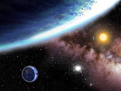 Super-Earth search: Newfound 'water worlds' could be just right for life (Photo: David A. Aguilar / CfA) NASA's Kepler planet-hunting probe has identified two potentially habitable planets only a little bigger than Earth, circling a star that's 1,200 light-years away. The planets could conceivably be covered by a global ocean, and they may well lead the growing list of alien worlds that can host life as we know it. Read the complete story.