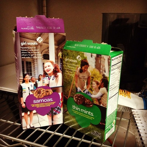 @jvarga21 showed up to work with Girl Scout cookies YESSSS  (at Tusk & Cup)