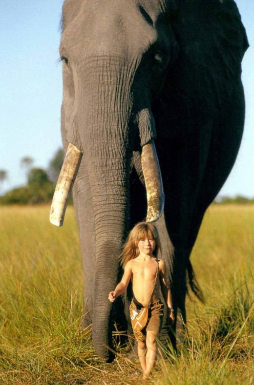 ridingsheepinnewzealand:  ashleymater:  Tippi Benjamine Okanti Degré, daughter of French wildlife photographers Alain Degré and Sylvie Robert, was born in Namibia. During her childhood she befriended many wild animals, including a 28-year old elephant called Abu and a leopard nicknamed J&B. She was embraced by the Bushmen and the Himba tribespeople of the Kalahari, who taught her how to survive on roots and berries, as well as how to speak their language. Learn more  THE REAL LIFE ELIZA THORNBERRY OMG
