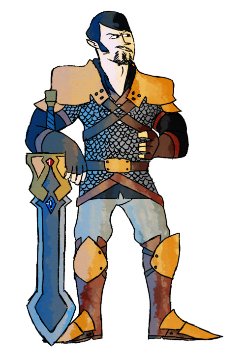 Oh shit another one! Ramey the Paladin, who may or may not be Alwin's brother but he's totally Alwin's best friend.