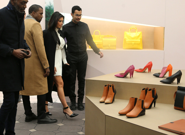 KimYe shopping for shoes in Paris.