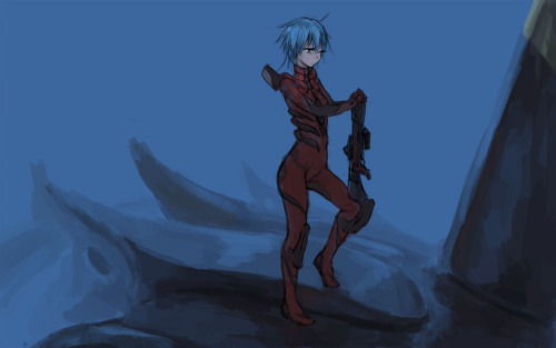 Just watched the third evangelion rebuild movie and started doodling after.  That movie was so good :'D