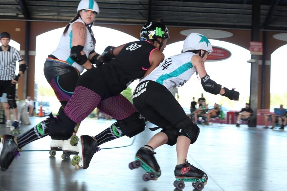 Amina Acid #80p -  Straight Jackettes vs Sintral Florida Derby Demons (4.27.13) -  Photo Credit: Canonball
