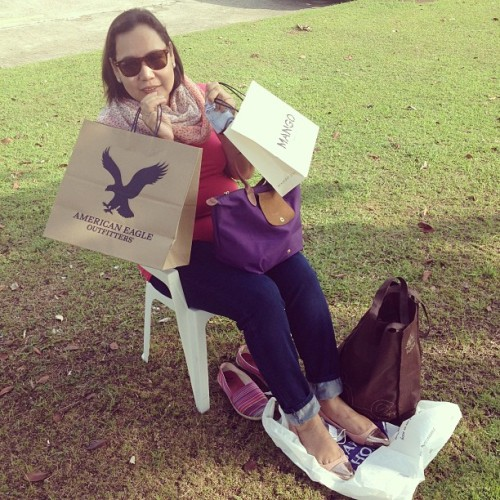 Mama basking on her mothers' day gifts! hahaha ❤ @_katrinamariel @luisamercado