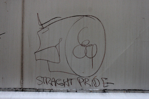 Straight Pride on Flickr.Whistle Blower train graffiti moniker benched in Cleveland, Ohio. Snake Oil | Facebook | Twitter