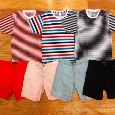 Stripe T-Shirts and Slater Shorts for Spring!