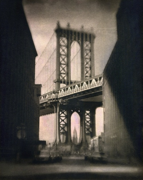 artemisdreaming:   Manhattan Bridge at Sunset Peter Liepke HERE and Gallery-270
