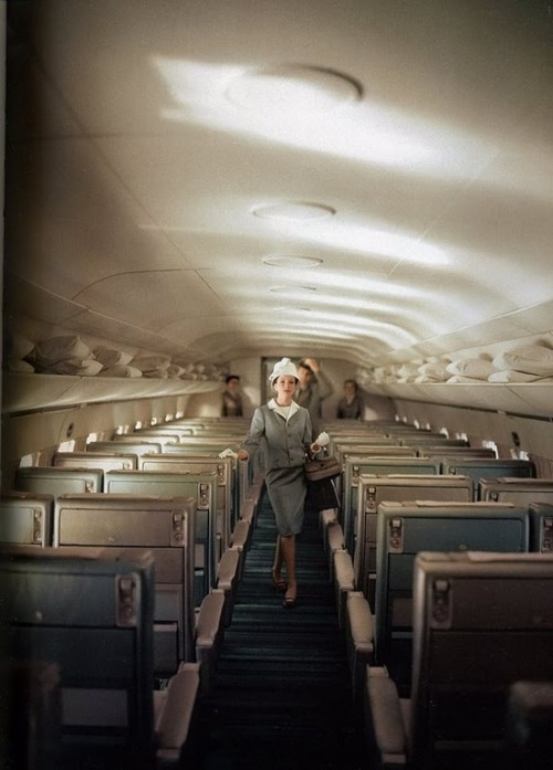 vintageeveryday:  Those were the days - air travel, 1950s