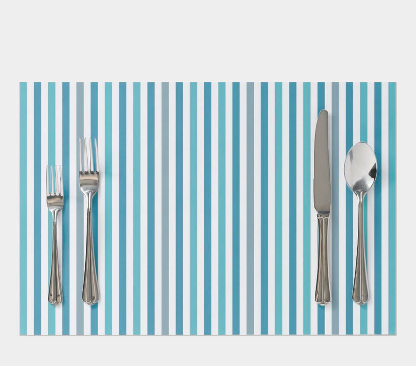-Large tearaway paperplacemat - multicolored stripes of blue-gray and turquoise  create a marine atmosphere and will be a great addition to table  decoration for any occasions and holidays. -Cloth Placemat multicolored strips. #tearaway#paper#placemat#multicolored stripes#table_decoration#occasions #holidays.
