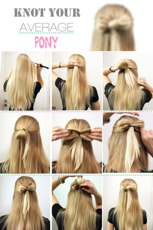 Knot your average pony - Try the HAIR BOW!