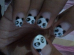 #me #love #panda #nailart #cute :3
