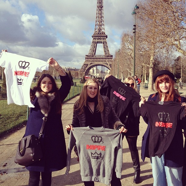 Queens In Paris. @curran_j met these lovely ladies on #akingsjourney who loved the brand. You can find pictures of them on our blog www.kingsruletogether.com capturing their style. #streetqueens #Paris #eiffeltower #queensinspirekings #queens #queen #QueensInspireKings #QueensRuleTogether #QRT #QIK #KRT