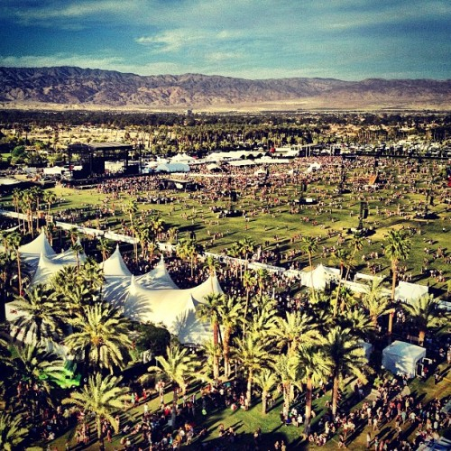 Happening now… #coachella