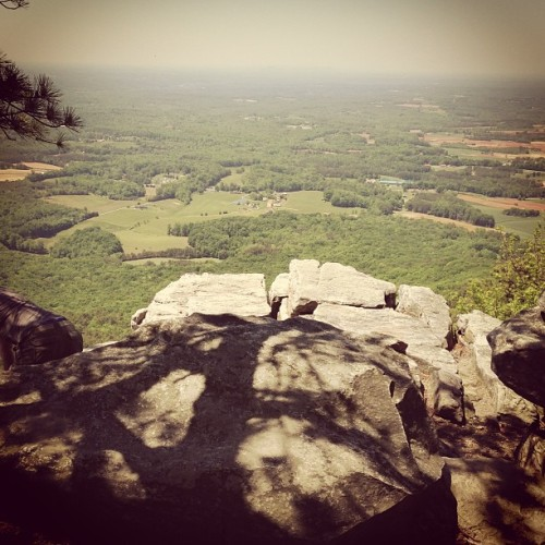 Pilot mountain!!!#climbingrocks #northcarolina